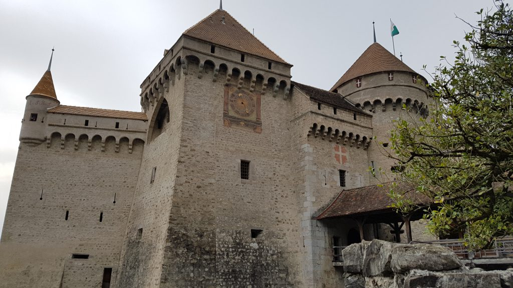 Chillon Castle from the shore