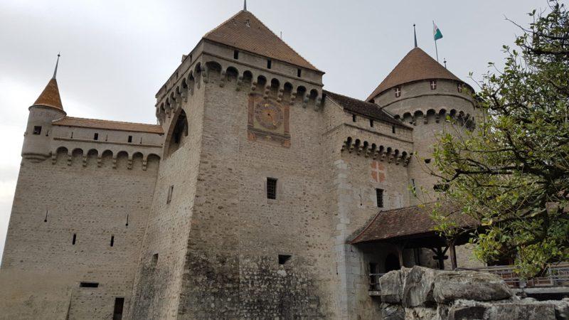 Le château de Chillon depuis le rivage