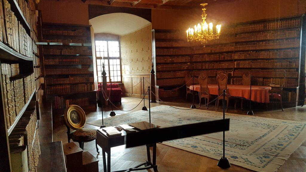 La bibliothèque du Château d'Oron