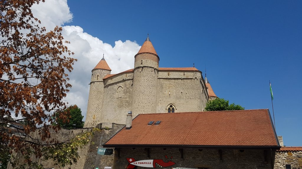 Chillon Castle from the car park next to the reception.