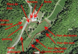 vue d'avion du zoo juraparc