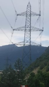 Electric pylon near Martigny - hydroelectricity in French-speaking Switzerland