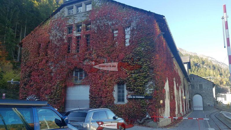 L'usine de Châtelard qui turbine les eaux du barrage du Châtelard