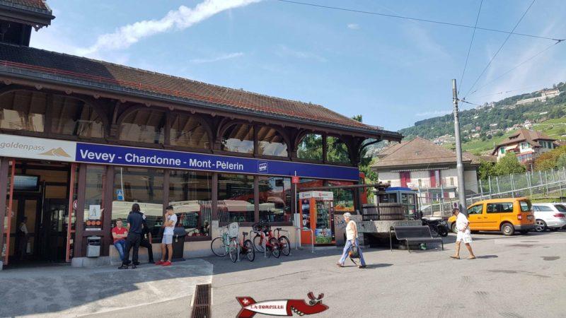 Gare de départ du funiculaire Vevey Mont-Pelerin