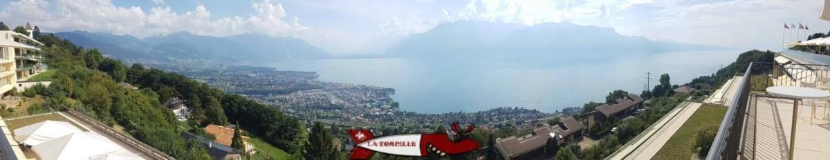 La vue depuis le café le Mirador au Mont-Pelerin.