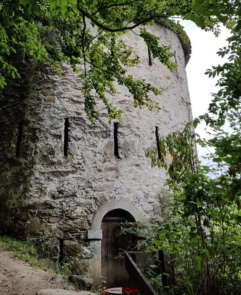 The Dufour Tower on the way to the entrance of the fairy's cave.