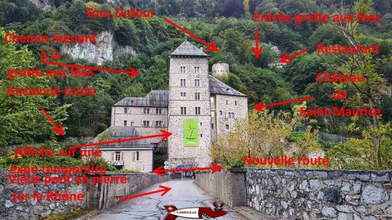 Les particularités autour du château de Saint-Maurice.