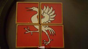 Un puzzle 3D avec la grue au musée gruérien. château de Gruyères