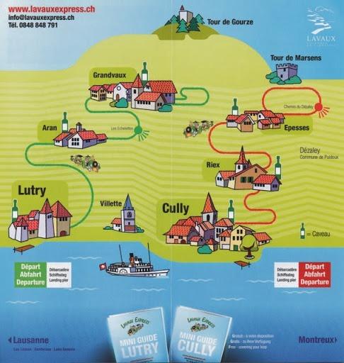 Les deux parcours proposés par le Lavaux Express au départ de Cully et Lutry.