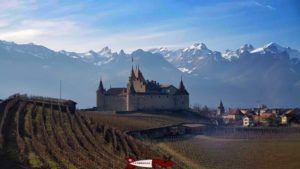 The Aigle Castle annexed by Berne after the Burgundian Wars.