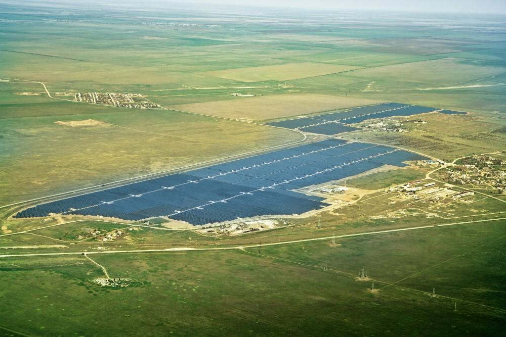 Une ferme solaire en Ukraine
