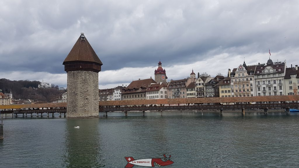 The Kappelbrücke in Luzern.