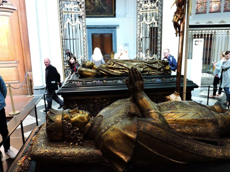 Tomb of Charles the Bold in Bruges erected by his grandson Philip the Fair in 1562.