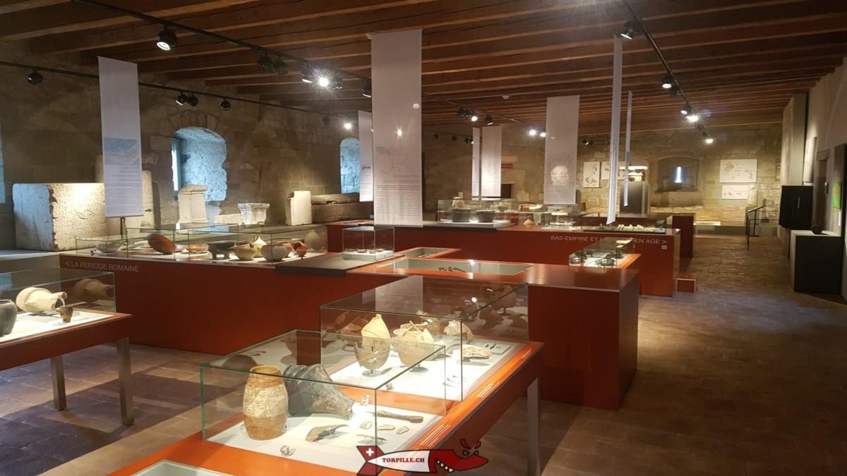 L'intérieur du musée d'yverdon et région