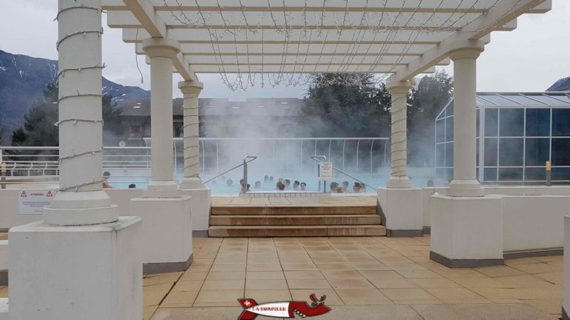 Saillon thermal baths outdoor pool Saillon thermal baths