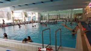 indoor swimming pool of the thermal baths of Saillon
