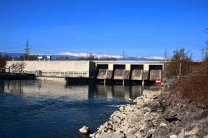 Le barrage de Verbois près de Genève