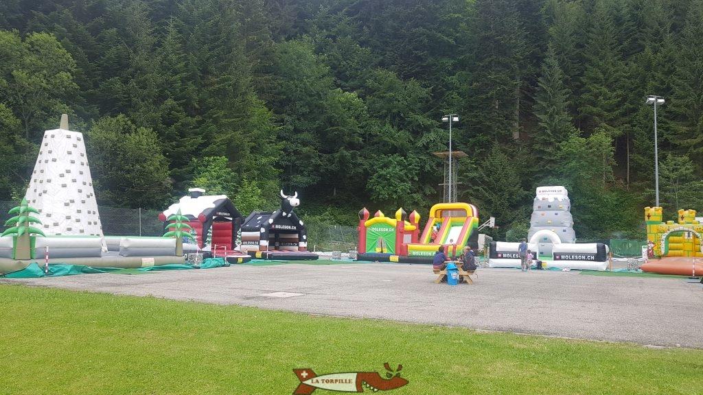 The bouncy castles. Moleson leisure park