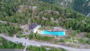 la piscine des marécottes proche des gorges du Triège