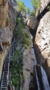 Les Gorges du dailley en amont de la Pissevache