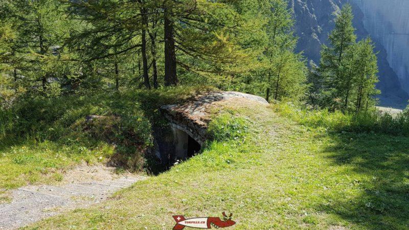 Les fortifications de la première guerre mondiale près du barrage de Mauvoisin