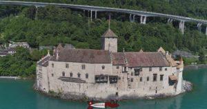 The chillon castle from Lake Geneva