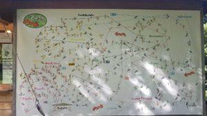 Le plan détaillé de parcours de l'accrobranche - signal de bougy