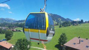 La télécabine de la Wispie à Gstaad proche du train monteux oberland bernois