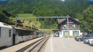La gare des Avants du train Montreux Oberland Bernois