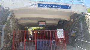 Gare de départ du funiculaire Les Avants-Sonloup