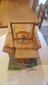 Maquette dynmaique d'une scie aux Vieux Moulins de la Tine