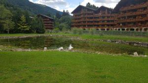 Les logements entourant les bains thermaux de Val d'Illiez