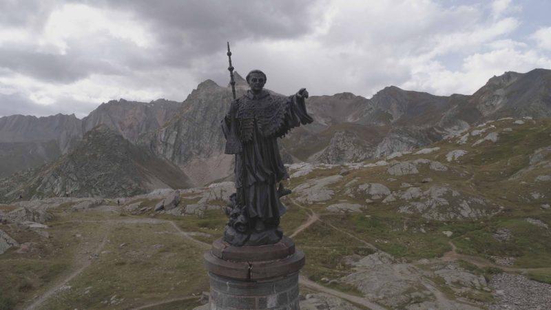 Bernard of Menthon statue.