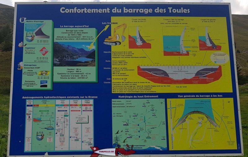 Une plaquette d'information dur le complexe hydroélectrique du barrage des Toules