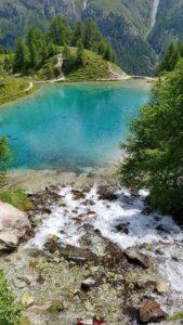 La cascade du lac bleu d'arolla