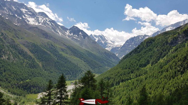 La vue sur la vallée d'Hérens.