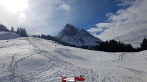 The Moléson Winter Sledge Run with the Moléson Mountain