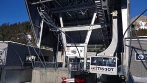 Gare de départ du téléphérique Glacier 3000