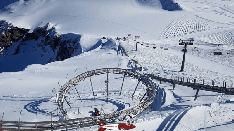 The Glacier 3000 toboggan run since the arrival of the cable car.