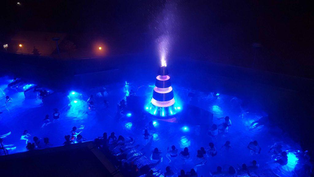 Spectacle pyrotechnique aux bains de Loèche.