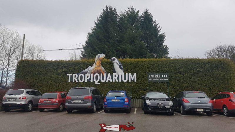 parking du Tropiquarium de Servion