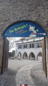 """Panel on the temporary exhibition """"So British"""" in 2016 and 2017 at the swiss museum of games"""