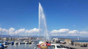 Geneva's jet d'eau
