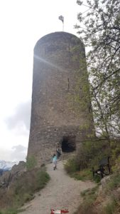 The keep of the castle of Saillon near the thermal baths of Saillon