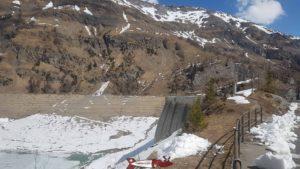 Tseuzier dam empty in april