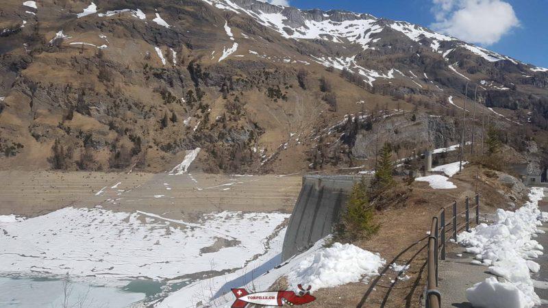 barrage de tseuzier vide en mai