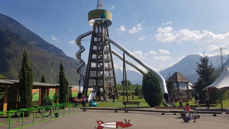 la tour au Labyrinthe Aventure Evionnaz