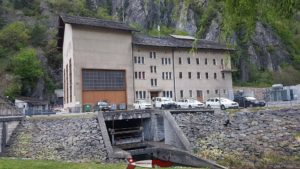 The Miéville plant which turbines the waters of the Salanfe dam in the commune of Vernayaz.