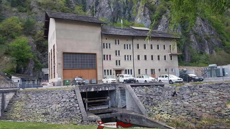 L'usine de Miéville qui turbine les eaux du barrage de Salanfe dans la commune de Vernayaz.