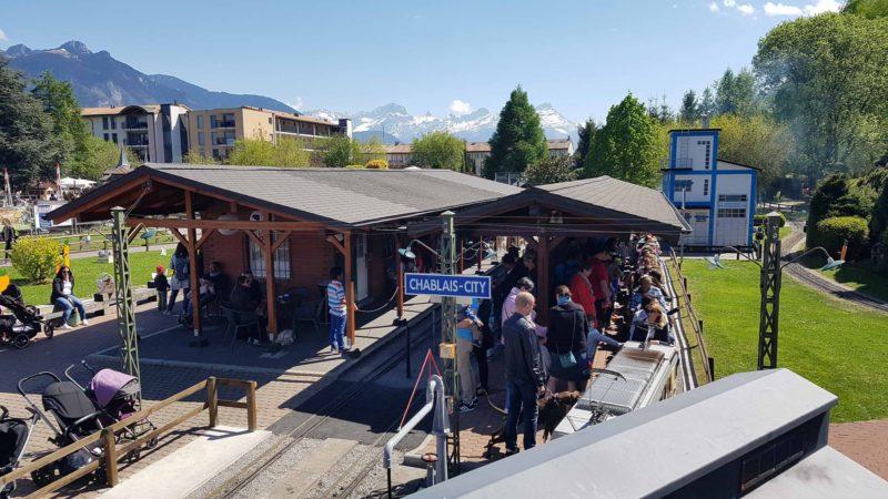 La gare de Chabais City au Swiss Vapeur Parc